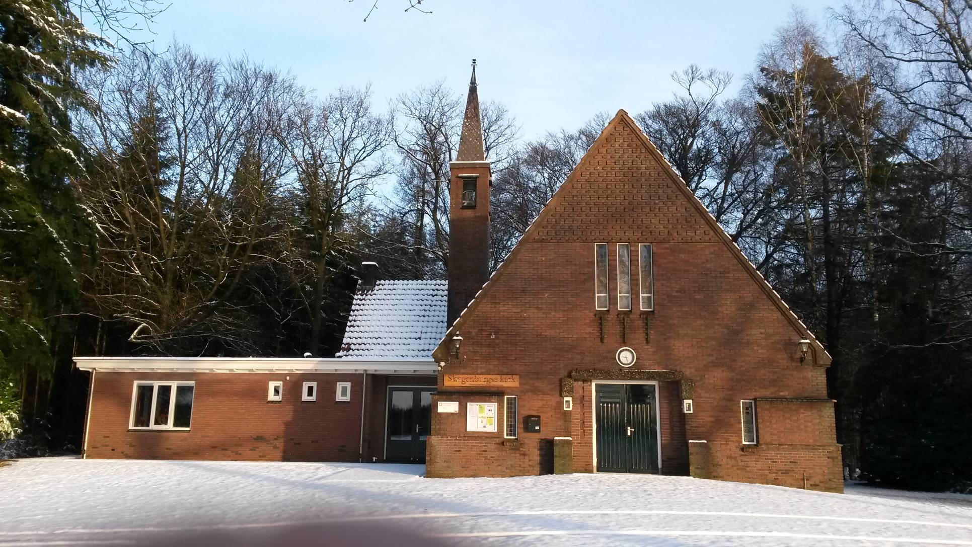 Slangenburgse kerk in de winter